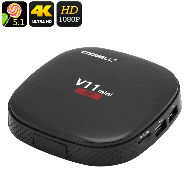 4K Android TV Box COOWELL V11 - Feature Image