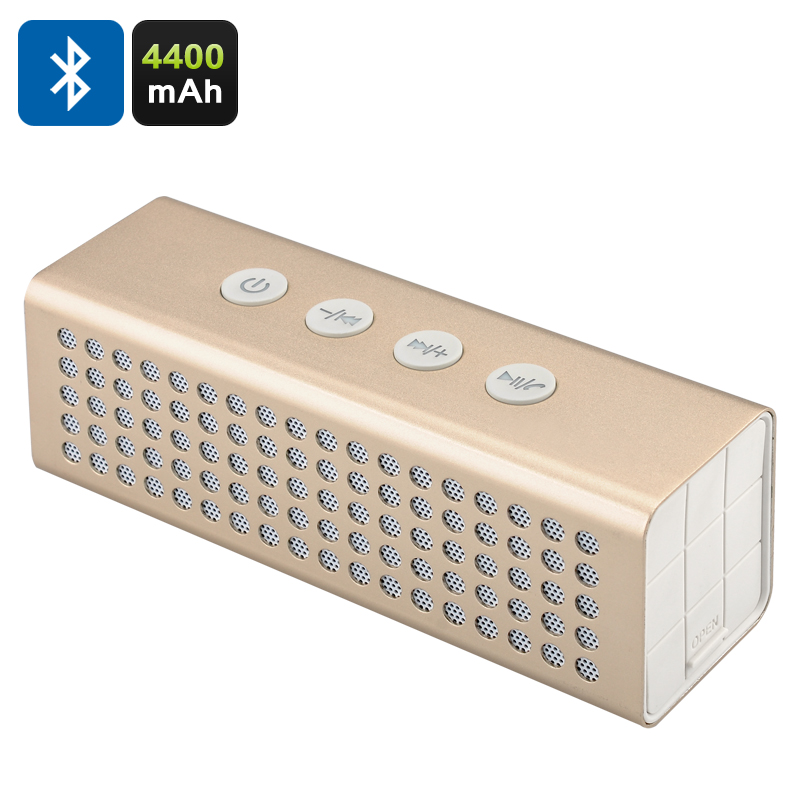 20W Bluetooth Speaker + Power Bank (Golden) - Feature Image