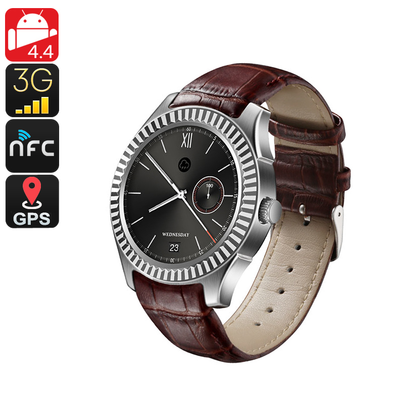 No.1 D7 Bluetooth Watch Phone (Silver) - Feature Image
