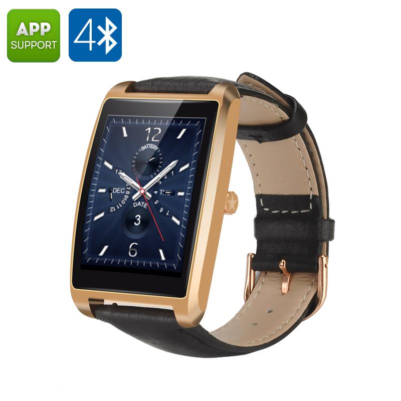 Bluetooth Waterproof Smart Watch (Golden) - Feature Image