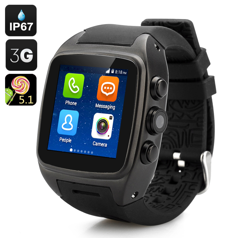 iMacwear SPARTA M7 Watch Phone (Black) - Feature Image