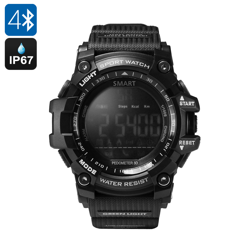Bluetooth Sports Watch (Black) - Feature Image