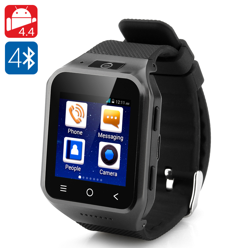 ZGPAX S8 Android 4.4 Watch Phone (Black) - Feature Image
