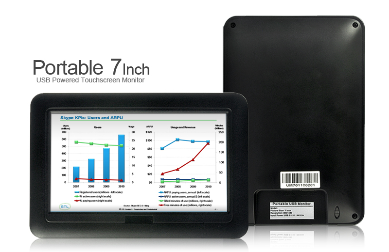 7 Inch USB Powered Touch Monitor - Image 3