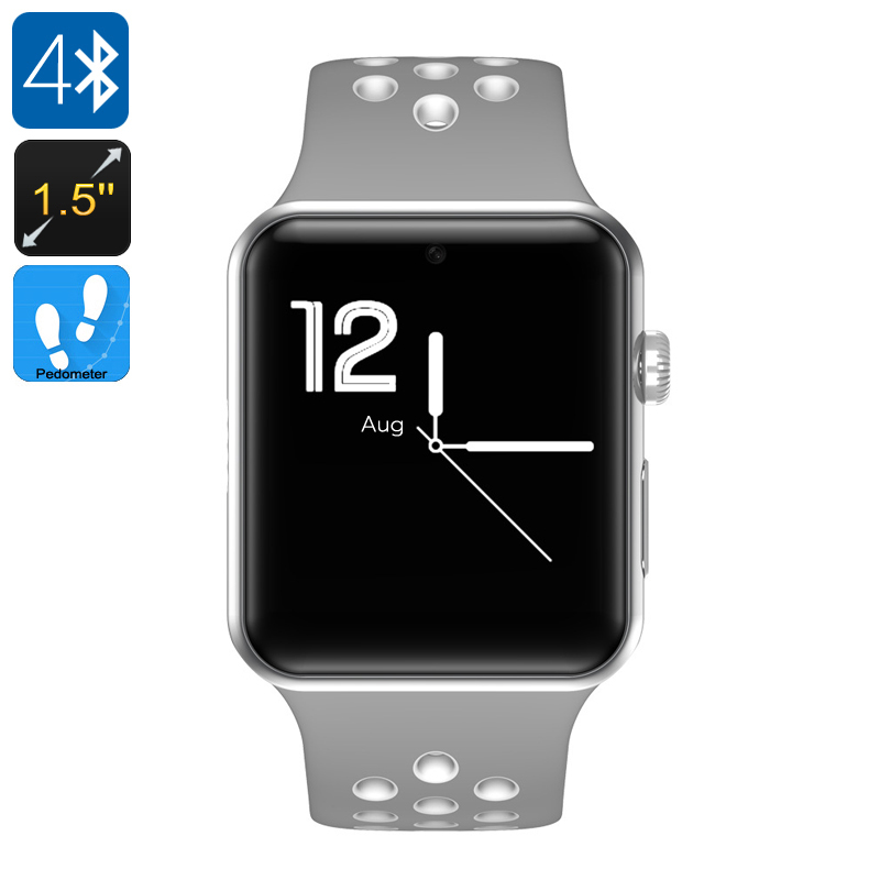 DM09 Plus Smart Watch Phone (Gray + White) - Feature Image