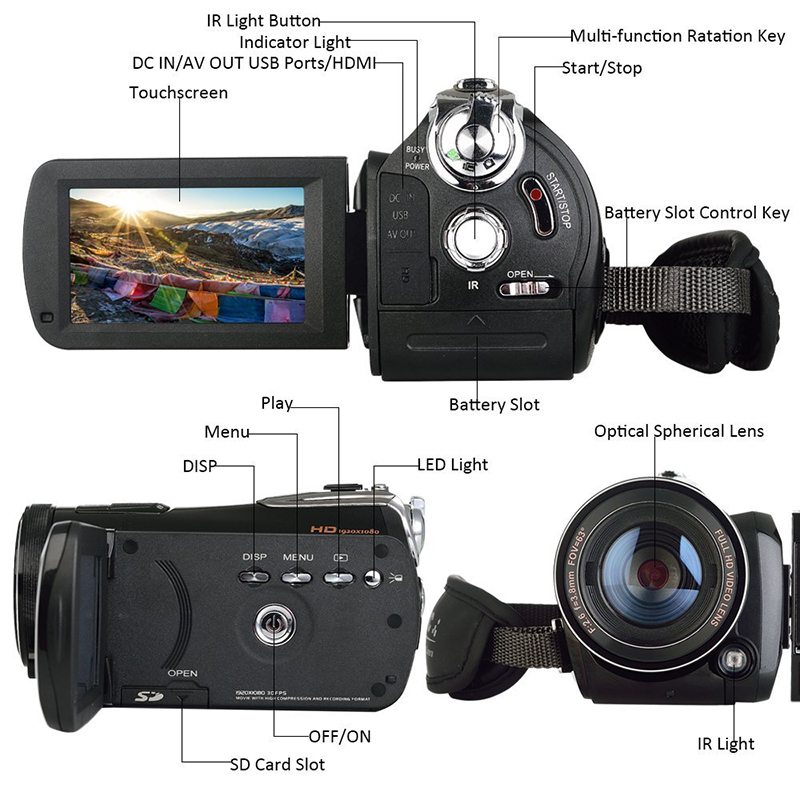 Ordro Full-HD Digital Video Camera - Image 2