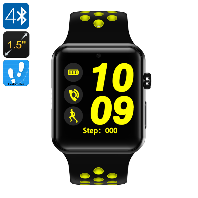 DM09 Plus Smart Watch Phone (Yellow +Black) - Feature Image