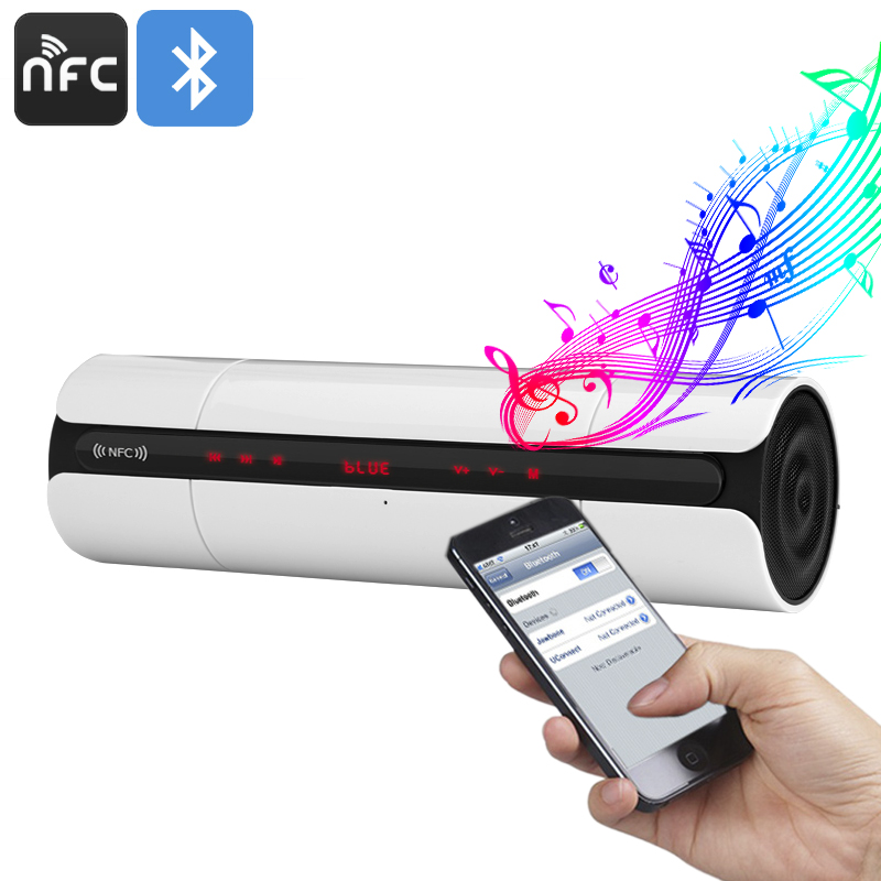 Portable Bluetooth Speaker (White) - Feature Image