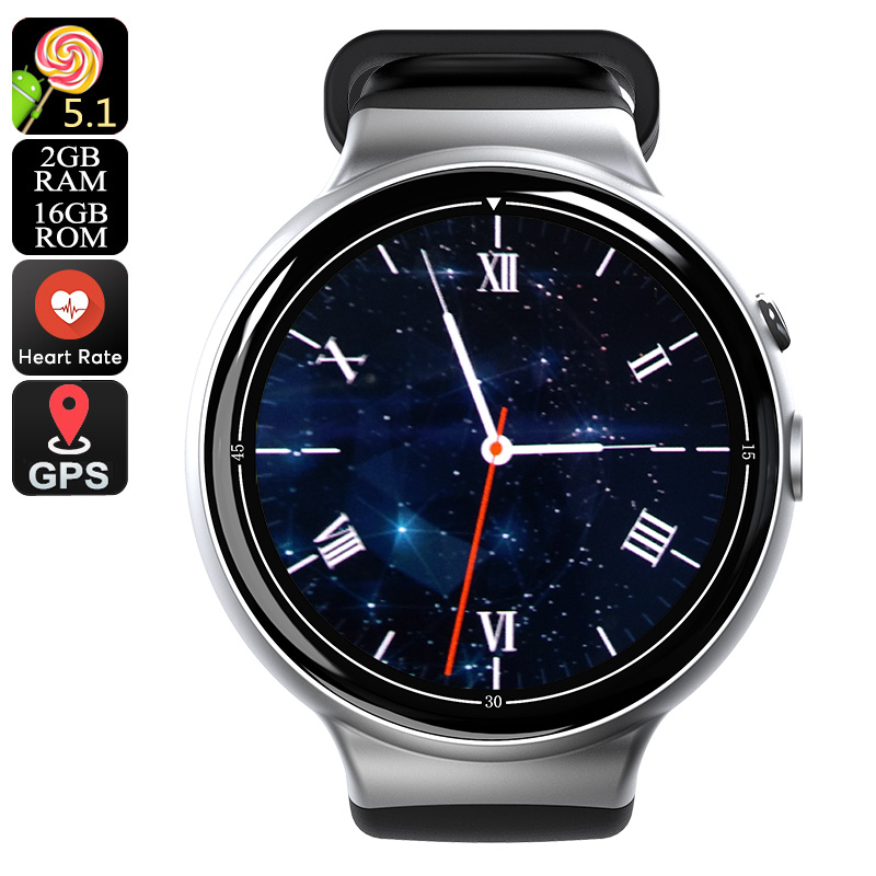I4 Air Smart Watch Phone (Silver) - Feature Image
