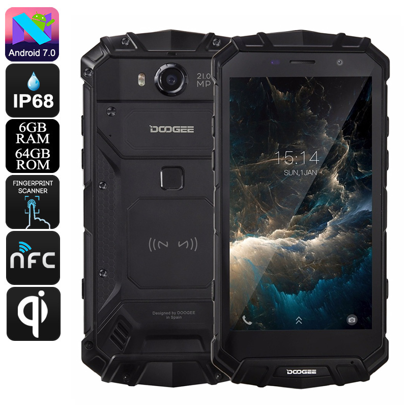Doogee S60 Rugged Android Phone (Black) - Feature Image